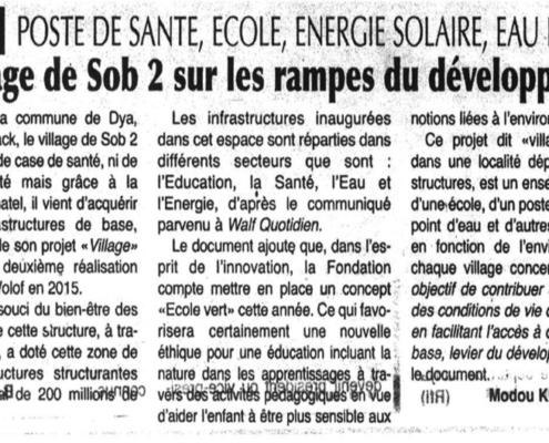 Revue de presse projet village 2