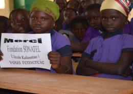 ecole kafoutine 1 don fondation sonatel