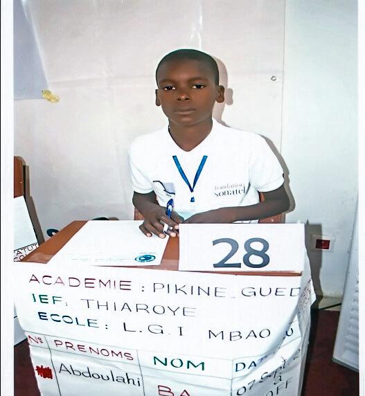 Le lauréat Abdoulahi BA
