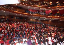 Le public des graines de l'excellence au grand theatre de dakar