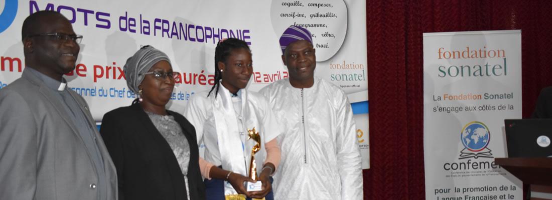 14 ème édition du Concours des dix mots de la Francophonie avec comme partenaire officiel la Fondation Sonatel